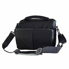 Cámara bandolera caso para las cámaras DSLR y accesorios (Negro)