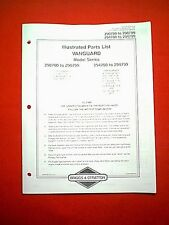 BRIGGS STRATTON VANGUARD V TWIN ENGINE 290700 TO 290799 & 294700 TO294799 MANUAL