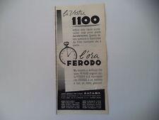 advertising Pubblicità 1959 FERODO e FIAT 1100