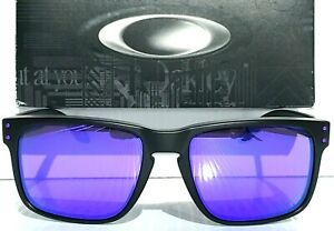 NEW Oakley HOLBROOK Matte Black POLARIZED Galaxy Purple Iridium Sunglass 9102