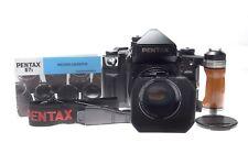 Pentax 67 II + SMC Pentax 105 mm 1:2,4 + Holzgriff