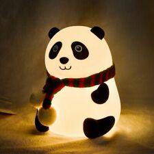 Panda LED Night Light Touch Sensor Colorful Cartoon Silicone Home Bedside Lamp