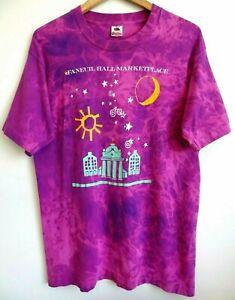 L Vtg 90s Faneuil Hall Marketplace Boston MA Single Stitch Skate Grunge T-Shirt