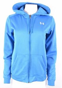 UNDER ARMOUR Womens Hoodie Sweater Size 14 Medium Blue Polyester BE17
