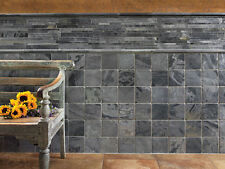 "SLATE TILES 12""X12"" OSTRICH GREY MODERN CONTEMPORARY  16""x16"""