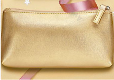 Avon Gold Cosmetic Bag. NEW!!