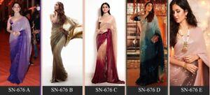 Arresting Sequin Sarees Designer Sequence Work Sari Pakistani Silk Saree Bridal