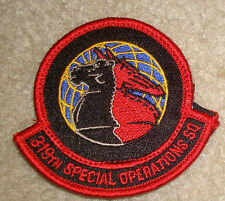 USAF,PATCH,  319TH SPECIAL OPERATIONS SQUADRON, WITH HOOK LOOP FASTENER