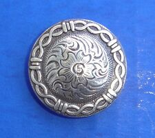 """Western Equestrian Tack Antiqued Silver Barbed Wire1 1/2"""" Conchos Set Of 6"""