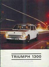 1966 TRIUMPH 1300 British Brochure Leyland Motor Corporation