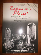 BEGINNERS PLEASE!  Solos for Brass Players Grade 1 and 2 with piano pub. Rosehil