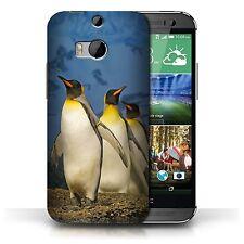 STUFF4 Hülle/Case für HTC One/1 M8/König Pinguine/Arktis Tiere