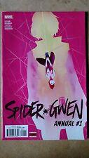SPIDER GWEN ANNUAL #1 FIRST PRINT MARVEL COMICS (2016) SPIDER-MAN