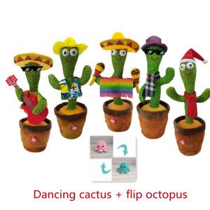 Toy Dancing Cactus Plush Electronic Shake Song Dance Cute Gift Singing Kids AU