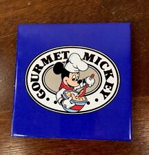 "Vintage Disney Mickey Mouse TRIVET 6"" x 6"" Gourmet Blue Ceramic Hot Plate"