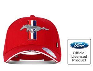 Ford Mustang Cap Pony, lizenziert Basecap 2021 Pferd Kappe, Blitzversand, rot