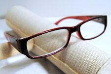 JM New York Reading Glasses +3.50  Lens Red Fade Frame Spring Hinged Reader
