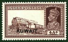 KUWAIT KGVI Stamp India MAIL TRAIN 4a Overprint Mint MM ex Collection BLBLUE80