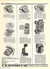 1957 ADVERT Toy Telephones Phone Pay Coin Plaphone Dial Wall Candlestick Banks