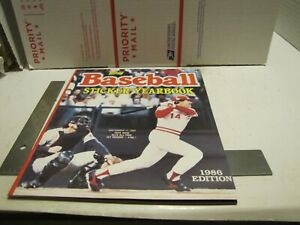 1986 TOPPS BASEBALL STICKER YEARBOOK UNUSED NO STICKERS PETE ROSE COVER