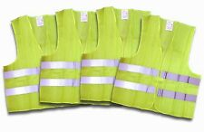 4 Stück Warnweste Unfallweste  EN 471 gelb NEU