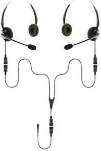 USB-C | Binaural Splitter Headset Training Bundle | 2 Users