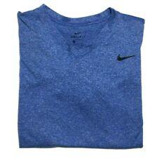 Nike Dri Fit Short Sleeve T Shirt - Men's Large - Heather Blue - Gym Athletic