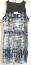 Jack by BB Dakota Dress US 2 EU 32 Cutout Steele Plaid Chiffon Polyester Lined