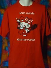 Hello Maxie - Kiss My Pussy - Vintage - T-shirt - Red - XL