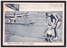 Cartolina Misano Adriatico Rimini Animata Barca HH194