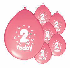 10 x BIRTHDAY BALLOONS AGES 1 2 3 4 5 PINK & BLUE PARTY DECORATION BOY/GIRL (PA)