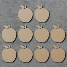 Hanging Apple Shapes x10 Perfect for Best Teacher Gifts - Wooden mdf Craft Blank