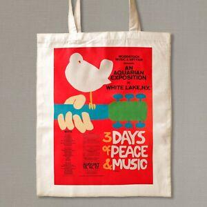 Woodstock Poster Tote Bag  , Gift Bag, Bag for Life