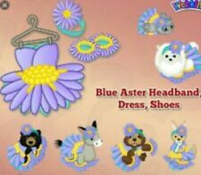 Webkinz online game SUMMER MYSTERY clothes item - BLUE ASTER clothing outfit $15