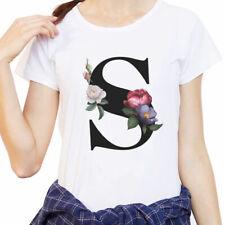 New Summer Women's T-Shirt Fashion English Alphabet Print Tshirt Harajuku Casual