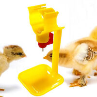 1/5Pc Poultry Chicken Duck Hanging Drinking Water Nipple Drinker Feeder With Cup