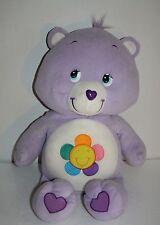 "Care Bears HARMONY BEAR 25"" Purple Fleece Plush Flower Stuffed Big Soft Toy"
