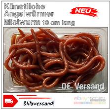 Angelwurm Künstliche Mistwürmer Kunstköder Angel Fischen 10cm.lang