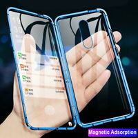 For OnePlus Nord 7 7T 8 Pro 360° Magnetic Adsorption Metal Tempered Glass Case