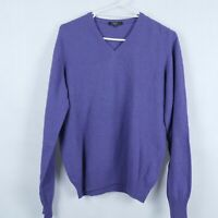 MCK Womens Purple Lambswool V Neck Knit Flexible Sweater Jumper SIZE Large, L