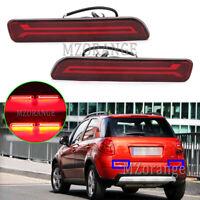 2x LED Rear Bumper Light Brake Lamps For Suzuki SX4 GY S-Cross Vitara 2006-2020
