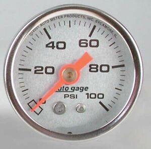 """AUTO METER 1.5"""" U/LITE GAUGE:F/PRESS 100 AU2180"""