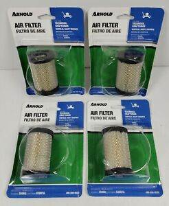 (LOT OF 4) Arnold Lawnmower Air Filter #490-200-0020 Fits Tecumseh/Craftsman