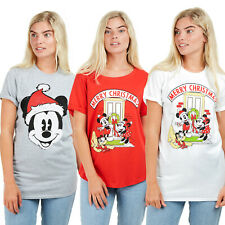 Disney Ladies - Christmas Mickey Mouse - T-shirt - Multicolored