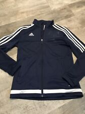 Navy Adult Small Adidas Climacool Soccer Warm-up Jacket
