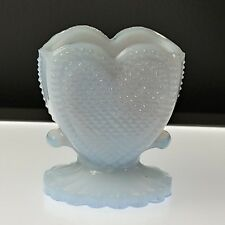 PALE ORCHID #41 HEART Toothpick Holder Match Boyd's Crystal Art Glass 10-12-94