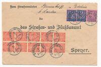 DR MiNr D73 D 72 2x D30 10X Edersheim Pfalz 19.3.23 nach Speyer