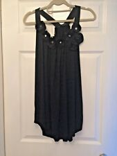 CLUB BLACK SUMMER EVENING TOP - GREAT WITH WHITE TROUSERS OR JEANS SIZE S/M NEW
