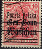 Poland WW1 German Occupation Warsaw classic stamp 1918