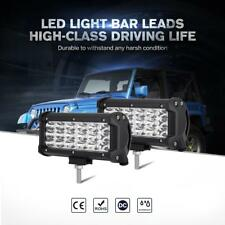 "Pair 7"" 252W TRI ROW LED Work Light Bar SPOT Driving Offroad Fog Lamp Tail 6/9"""
